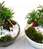 Christmas Ceramic Fairy Gardens