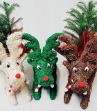 Christmas Reindeer & Pine 10 in