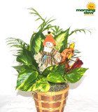 Fall Scarecrow Basket 5 in
