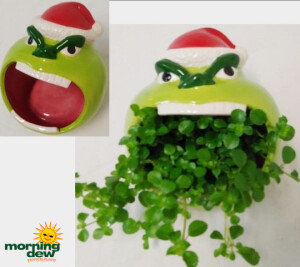 Christmas Mean & Green Ceramic 5 in